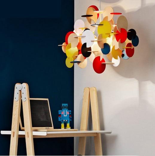 Diy Colorful Rooms: Hanging Lights Bedroom Children Room Droplight 3D Wood