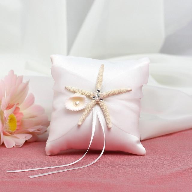 Aliexpresscom Buy 1010cm Starfish Beach Wedding Ring Pillow