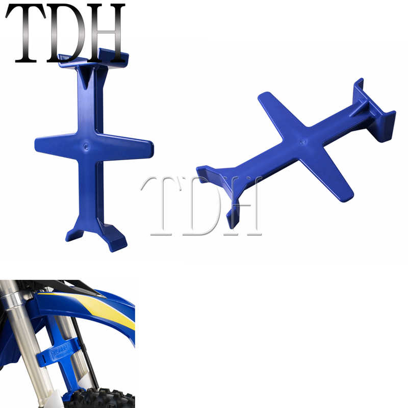 Motorcycle Universal Blue Fork Support Guard Brace Transportation Tools  Protection For Yamaha YZF R1 WR250R Honda KTM Kawasaki