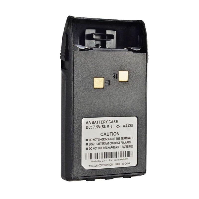 Nouveau Remplacement 7.5 V 1400 mah 5xAA Batterie Cas Shell pour Wouxun KG-UVD1P KG-UV6D KG-659 KG-669 Plus KG-679 Radio Talkie walkie