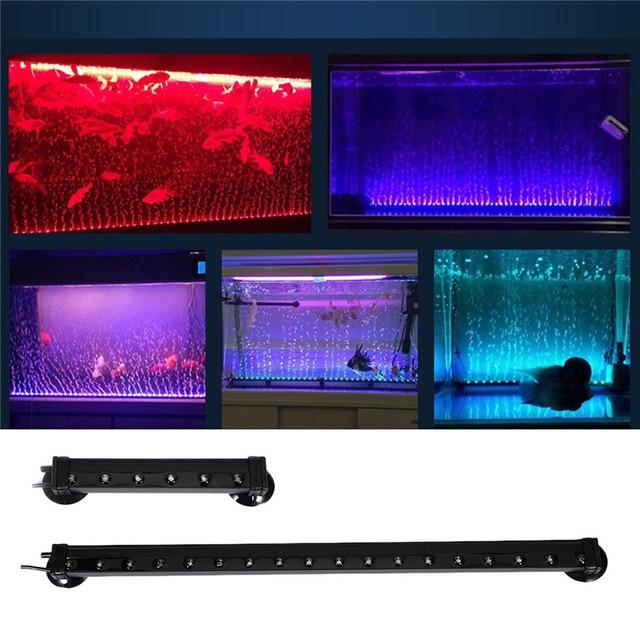 eu aquarium fish tank lamp eu plug bubble lamp submersible light air bubble lamp led verlichting