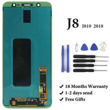 Dla Samsung J8 2018 wyświetlacz LCD klasy OEM AMOLED z ekranem dotykowym Digitizer zgromadzenie dla Samsung J810 J810F ekran LCD