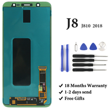 Für Samsung J8 2018 LCD Display Grade OEM AMOLED Mit Digitizer Touch Screen Für Samsung J810 J810F LCD Bildschirm