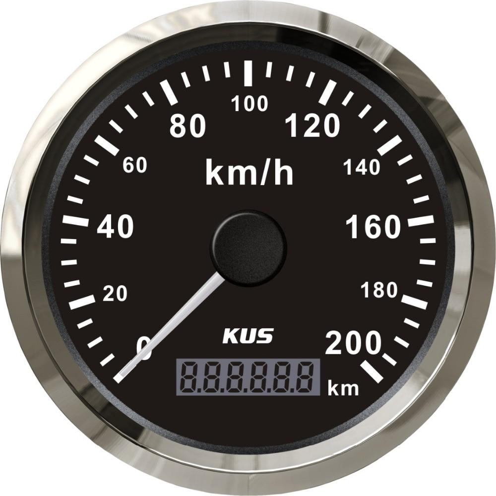 Auto Parts Coupons >> KUS Universal GPS Speedometer Odometer Gauge Meter 200KM/H For Car Motorcycle Trucks 85mm 12V ...