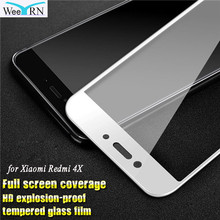 hot deal buy 2.5d 9h protective glass film for xiaomi redmi 4x tempered glass full cover screen protector for xiaomi redmi 4x 5.0 inch glass