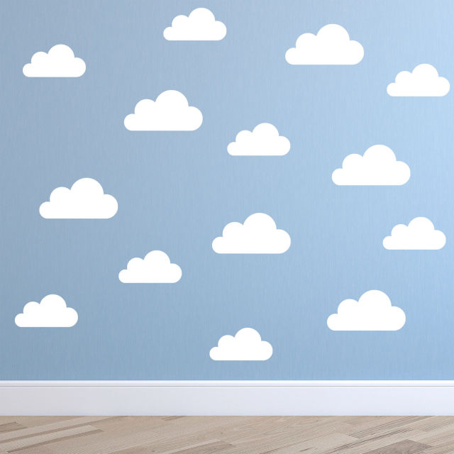 ZN C069 Set Of 32 Cute Clouds Pattern Removable DIY Wall Stickers Vinyl Art Wall  Decal