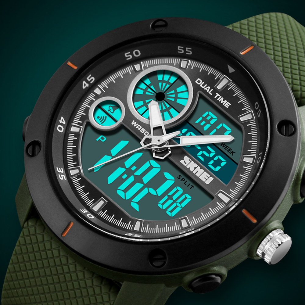 <font><b>SKMEI</b></font> Sports Watches Luxury Brand New Outdoor Digital Quartz Watch Men Waterproof Army Military Wrist Watch Relogio Masculino image