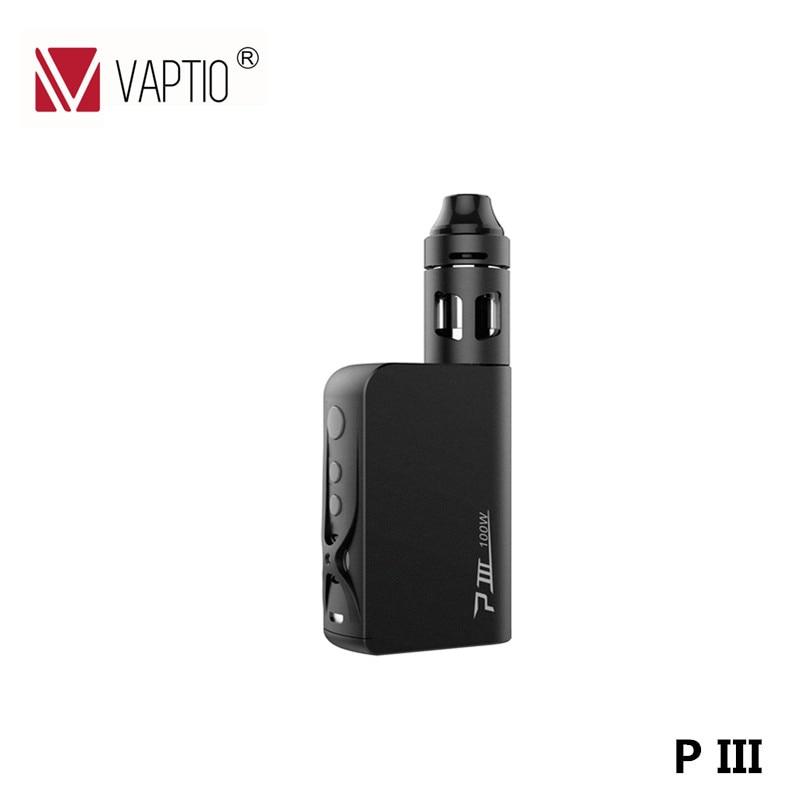 Electronic Cigarette Vape kit Vaptio P3 3000mah Built in battery 100w box mod 2ml atomizer VS IJOY RDTA Mini kit 100W Vape kit стоимость