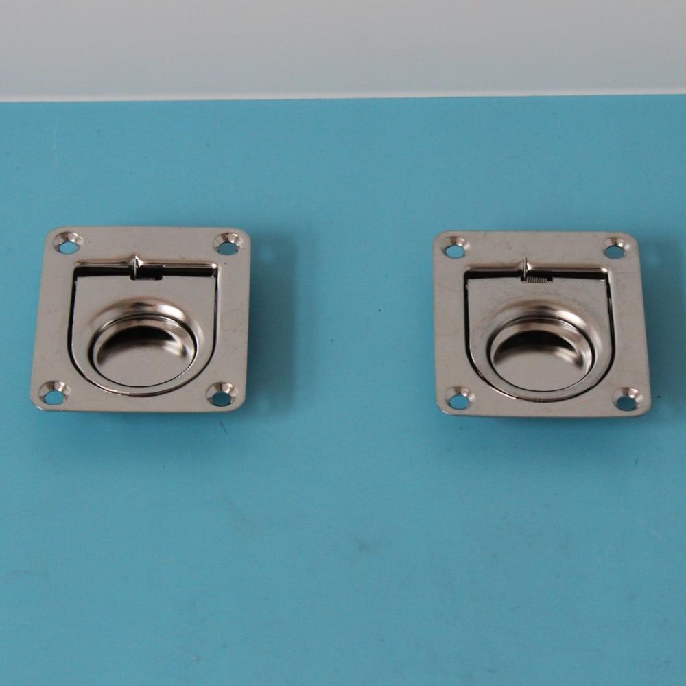 2 piece marine boat stainless steel locker pull ring handle yacht flush lift handle 2.5