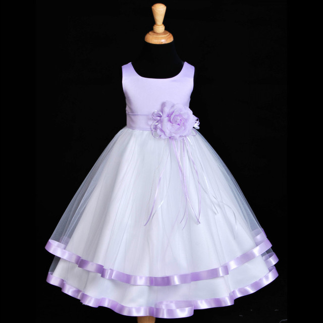 White lilac tulle sash wedding flower girl in flower girl dresses white lilac tulle sash wedding flower girl mightylinksfo