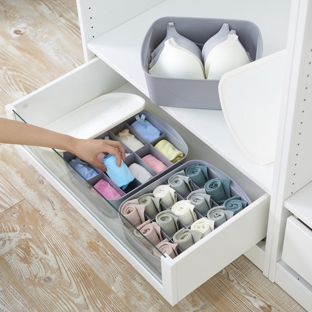 Storage Basket Wardrobe Plastic Container Socks Makeup HOT 15-Grid Underwear Manager