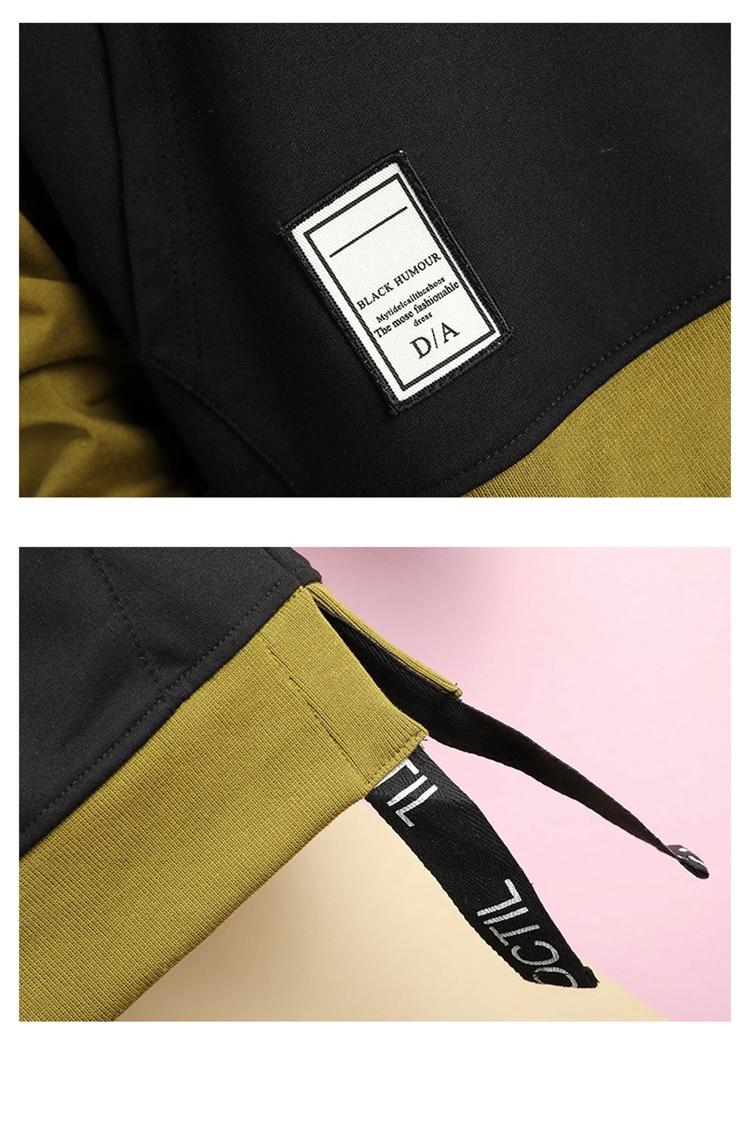 Hoodie Sweatshirt Mens Hip Hop Pullover Hoodies Streetwear Casual Fashion Clothes colorblock hoodie 31