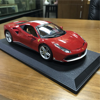 Bburago Car Model 1:18 Red 488 GTB Alloy Static Super Sports Car Model Toys Limited Edition Office Decoration Business Gift