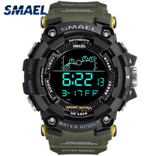 SMAEL Brand Mens Watches Men Military Waterproof Electronic Sport Watch Male Army LED Digital Wristwatch Clock Relogio Masculino(China)