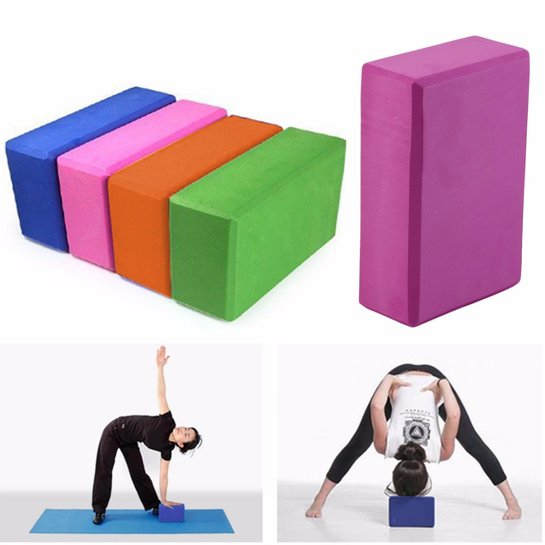 Non-Slip Yoga Block Pilates EVA Brick Foam Stretch Fitness Exercise Gym Tool Training High Quality