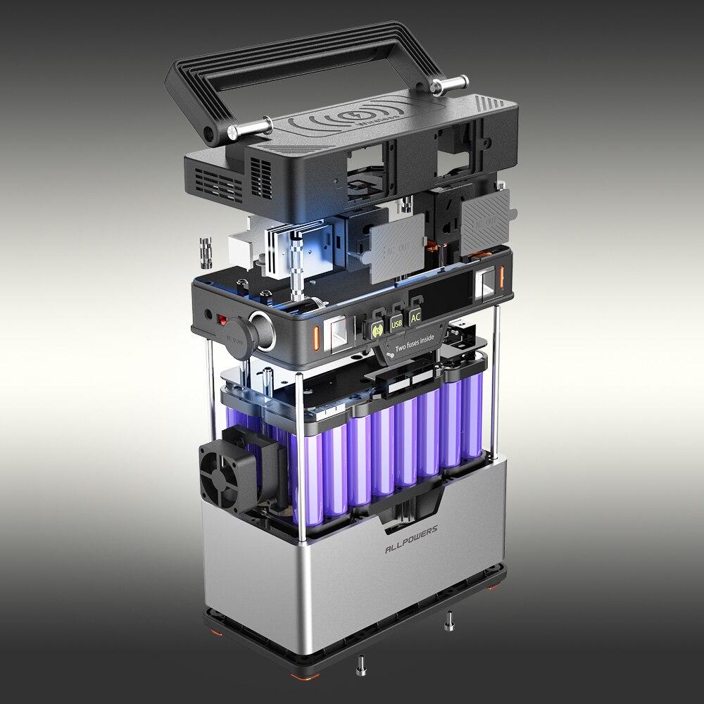 ALLPOWERS 110V ~ 230V Power Bank Pure Sine Wave generador portátil de energía Estación de alimentación coche refrigerador TV Drone teléfonos portátiles. - 5