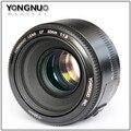 На Складе YONGNUO YN 50 мм Объективом F1.8 Большой Апертурой Объектив с Автофокусировкой для Canon EOS 60D 70D 5D2 5D3 7D2 750D 650D 6D DSLR камеры