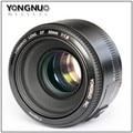 En Stock YONGNUO YN 50mm Lente de Gran Apertura F1.8 Lente de Enfoque Automático para canon eos 60d 70d 5d2 5d3 7d2 750d 6d 650d dslr cámaras