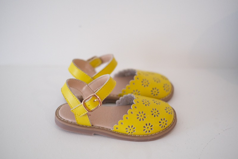 Summer Girls Sandals Cut-Outs Petal Kids Shoes Genuine Leather Princess Sandals High-grade Children Sandals 3-9T