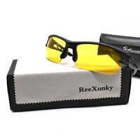 Nachtsicht Gläser Für Fahren Schutz Gears Brille Gelb Objektiv Ultra licht Rahmen Sonnenbrille Anti-glare Radfahren Gläser