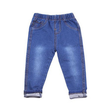 WEONEWORLD Boys Girls jeans pants spring Autumn 2017 children's clothing Kids Knitted jeans Soft trousers casual Baby pants