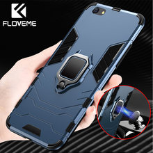 FLOVEME Shockproof Armor Case For iPhone XS Max X 7 8 Plus Ring Holder Case For iPhone 6 6S Plus 5 5S SE XR XS Phone Case Cover(China)