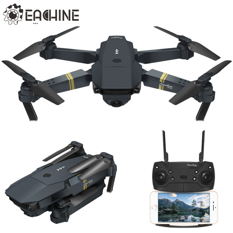 Hot Sale Eachine E58 WIFI FPV Com Wide Angle 2 MP HD Câmera de Alta Modo Hold Dobrável Braço RC Quadcopter RTF VS DJI Mavic Pro