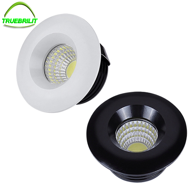 Led Downlights Round Cob Mini Spot Recessed Dimmable Down Lamp For Cabinet 110v 220v Home Lights