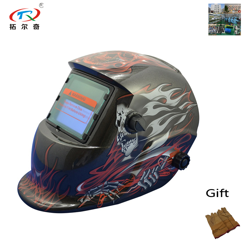 Welding Helmet Auto Darkening Fast Shipping Comfortalbe Welding 1pc Battery Replaceable Self Test Low Power Warn Trq-hd11-2233ff Tools