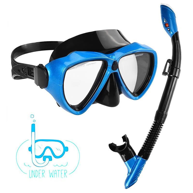все цены на RUNACC Anti-fog Diving Snorkel Set Professional Dry Snorkels Glasses Set Portable Diving Mask with Snorkel and Storage Bag