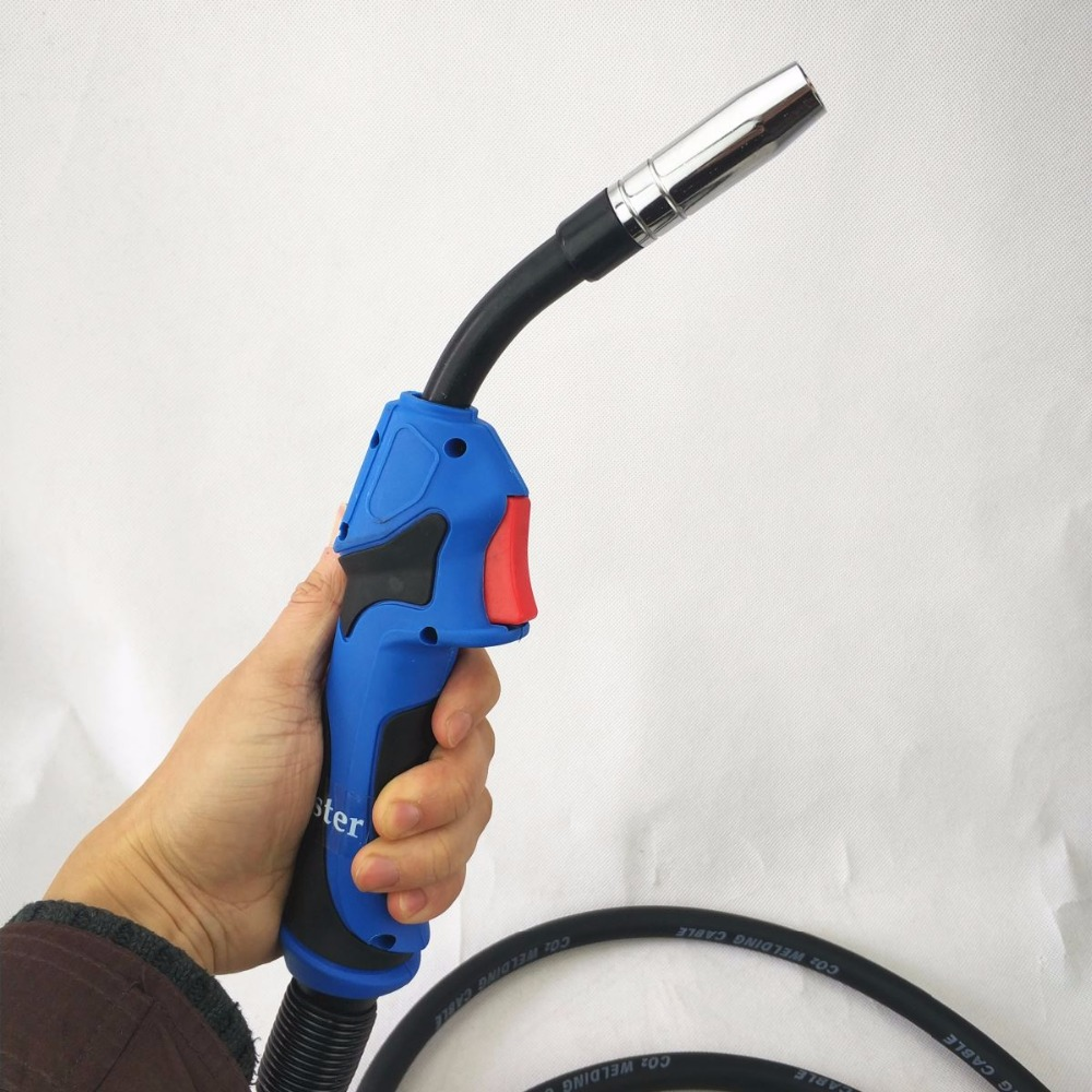 MB 15AK MIG/MAG Welding Torch 180A Welding Torch MIG Welding Gun 3m(10ft) Air-cooled Euro Connector MB 15AK Welding Torch nt1 3l air cooled gas metal arc welding gun north mig welding torch coupled with lin clon fitting 3 meter