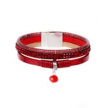 ORP Europe and United States Accessories Wholesale Fashion Bohemia Bangles Zirconia 3pcs Leather tassel Bracelet star girl