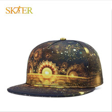 SIZE 55-61cm 3D PICTURE PRINT skateboard cap for street wear Quality CAP with Skeleton GUY for for man and woman 100% cottons