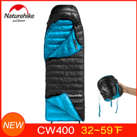 Naturehike CW400 White Goose Down Sleeping bag Super Light and Warm Winter Sleep Bags Come with Free Compression Sack NH18C400 D