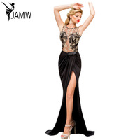 Formal Fishtail Mermaid Robe Sexy Lady Embroidered Mesh Wrap Backless Maxi Dress Vestidos De Gala Gowns