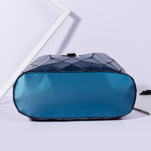 Image 4 - 2019 Fashion Matte Women Backpack Female Black Backpacks Daily Backpack For Girls Geometry Luminous Bagpack Noctilucent Bags Sac