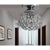 LED Wrought Iron Welding Spray Paint Absorb Dome Light Modern Ideas Painted Black Crystal Ceiling Lamp