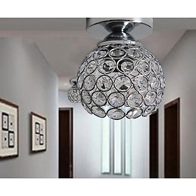 5w LED Wrought Iron Welding Spray Paint Absorb Dome Light Modern Ideas Painted K9 Crystal Ceiling