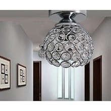 5w LED Wrought Iron Welding Spray Paint Absorb Dome Light Modern Ideas Painted K9 Crystal Ceiling Lamp Bedroom 1 Light 110-240v