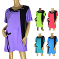 BFDADI 2016 новое прибытие летом женщина футболка с коротким рукавом о-образным вырезом длинные свободные женщины топы мода плюс размер женские топы 4150