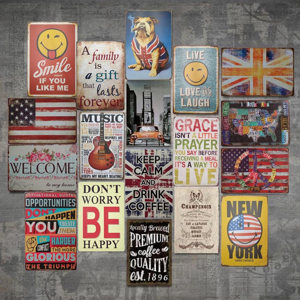 Metal Tin Sign Bar Pub Vintage Art Plaque Home Coffee Shop Wall Art Decor