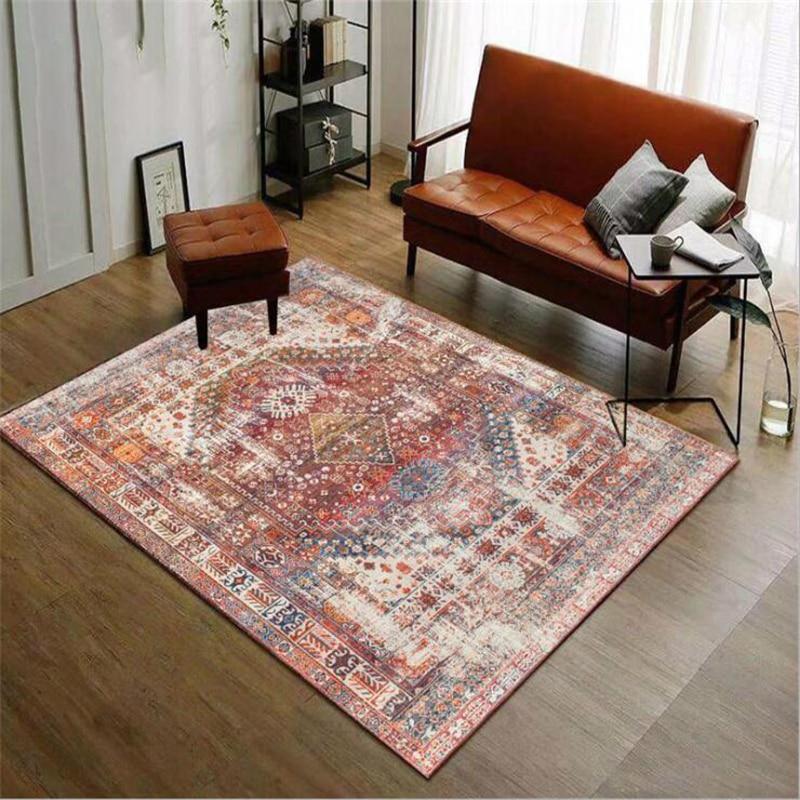 200X300cm Polyester Style américain tapis pour salon classique doux maison tapis plancher porte tapis décorer maison anti-dérapant