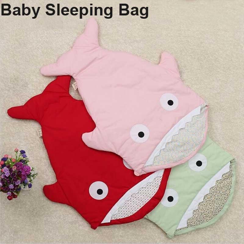 ФОТО 2016New Arrival! Cute Carton Shark Baby Sleep Bag Winer Baby Sleep Sack Warm Baby Blanket Warm Swaddle