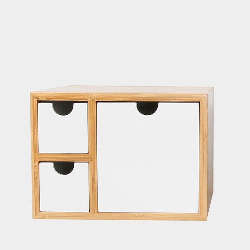 Organisateur de bureau créatif en bambou avec tiroirs Style moderne multi-usage cosmétique/articles divers boîte de rangement boîte à bijoux décor de Table