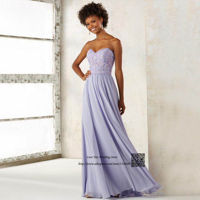 Embroidery Lavender Bridesmaid Dresses Long Vintage Lace African ...