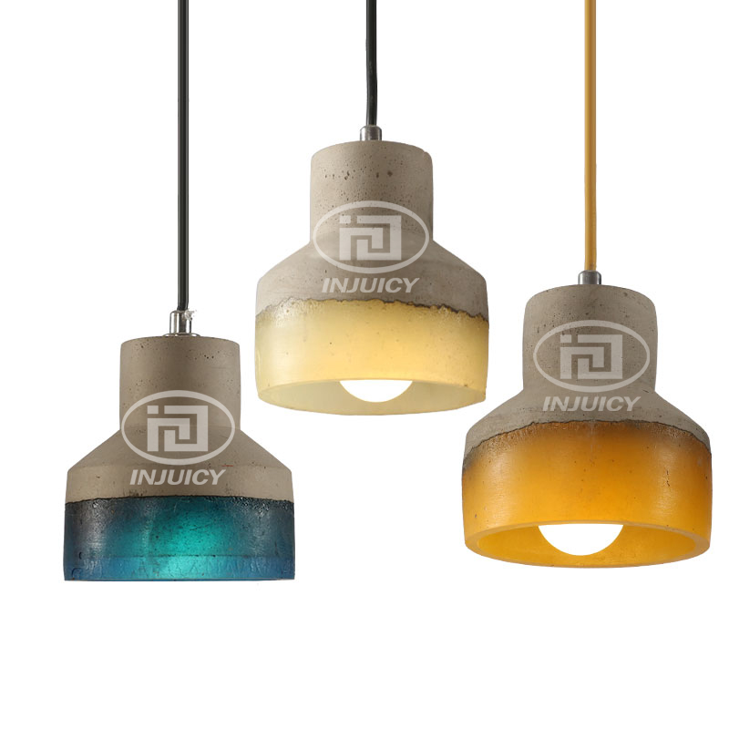 LOFT Industrial Edison Cement Hanging Lamp LED Restaurant Cafe Bedroom Colorful Resin Droplight Dining Room Bar Store Lighting industrial black edison rh loft droplight ceiling lamp pendant for clothing shop cafe bar hall dining room