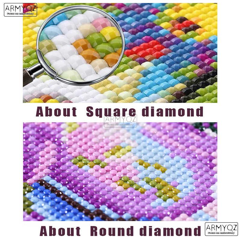 5D vierkante diamanten borduurwerk Mermaid, bad Icoon diamant kruissteek bergkristaldiamant schilderen foto diamant mozaïek kit