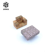 30 Grains Taste Fresh Minecraft Magnetic Building Blocks Models Bricks Hand Paste Compatible With Lego DIY Toy Sofa Stone Table(China)