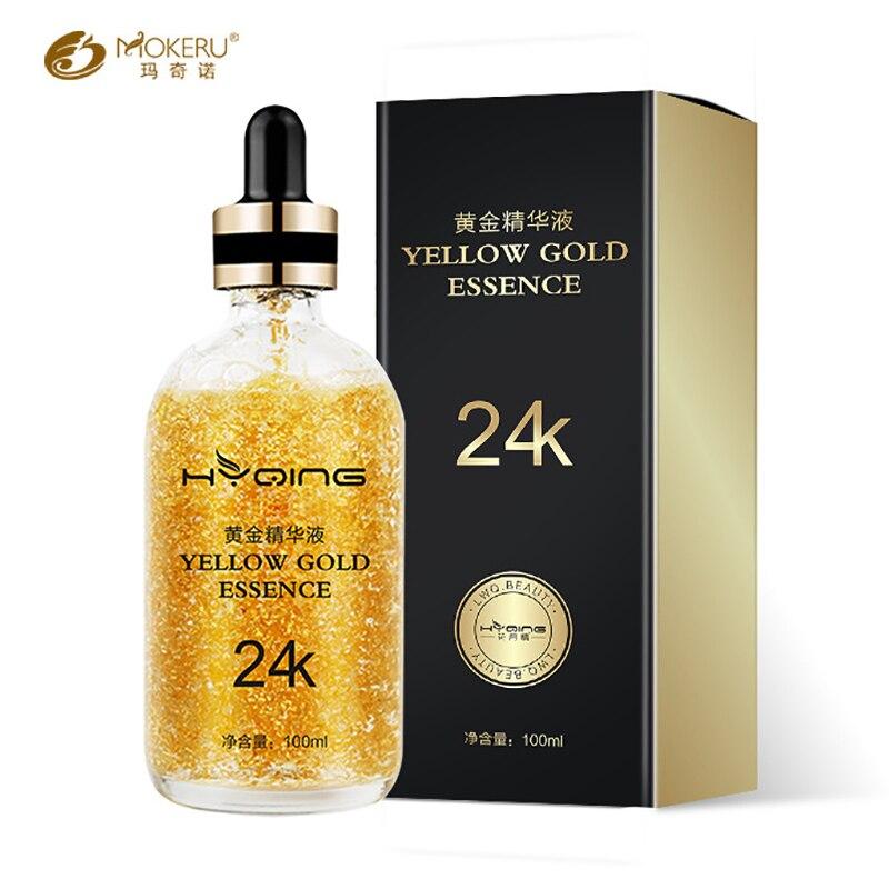 Mokeru 24K Gold Vitamin Serum Anti Aging Face Care Hyaluronic Acid Serum Anti Wrinkle 24K Gold Serum For Face Skin Care