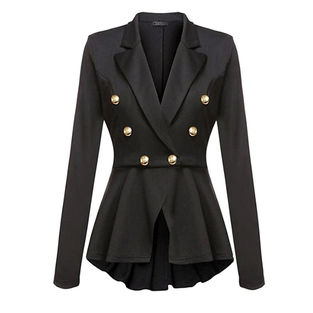 Gothic Casual Office Lady White Women Overcoats Blazer Autumn Slim Black Formal Girls Yellow Popular Female Coats Purple Blazers